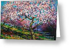 Impressionistic Spring Blossoms Trees Landscape Painting Svetlana Novikova Greeting Card by Svetlana Novikova