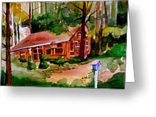 In A Cottage In The Woods Greeting Card by Mindy Newman