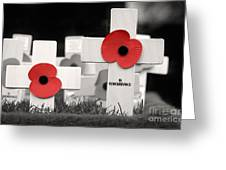 In Remembrance Greeting Card by Jane Rix
