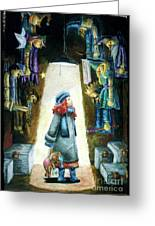 In The Closet Of The Puppeteer Greeting Card by Yagmur Telorman