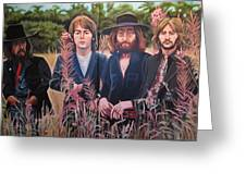 In The Field The Beatles Greeting Card by Sandra Ragan