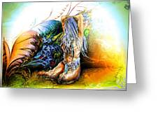 In The Garden Greeting Card by Adam Vance
