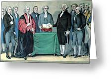 Inauguration Of George Washington, 1789 Greeting Card by Photo Researchers