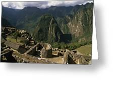 Inca Ruins At Machu Picchu Are Biggest Greeting Card by Gordon Wiltsie