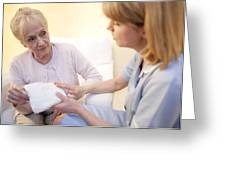 Incontinence Pad Greeting Card by