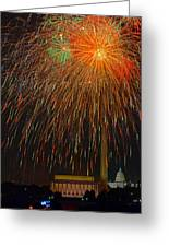 Independence Day In Dc 3 Greeting Card by David Hahn