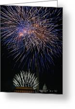 Independence Day In Dc 5 Greeting Card by David Hahn