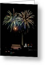 Independence Day In Dc Greeting Card by David Hahn