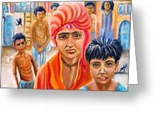 India Rising -- Prince Of Thieves Greeting Card by Carol Allen Anfinsen