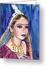 Indian Bride Greeting Card by Clara Sue Beym
