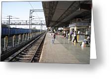 Indian Railway Station Greeting Card by Sumit Mehndiratta