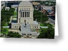 Indiana World And War Memorial Greeting Card by Rob Banayote