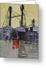 Industrial Landscape 1 Greeting Card by Elena Nosyreva