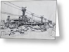 Industrial Site Greeting Card by Ylli Haruni