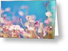 Infatuation In Blue II Greeting Card by Amy Tyler