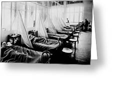 Influenza Ward Greeting Card by Usa Library Of Medicine