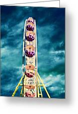 infrared Ferris wheel Greeting Card by Stylianos Kleanthous