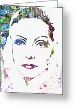 Ingrid Bergman  Greeting Card by Naxart Studio