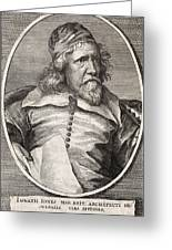 Inigo Jones, British Architect Greeting Card by Middle Temple Library