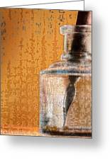 Ink Bottle Calligraphy Greeting Card by Carol Leigh