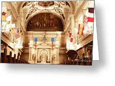 Inside St Louis Cathedral Jackson Square French Quarter New Orleans Diffuse Glow Digital Art Greeting Card by Shawn O'Brien