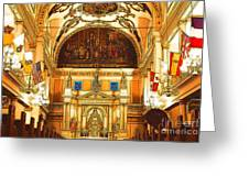 Inside St Louis Cathedral Jackson Square French Quarter New Orleans Digital Art Greeting Card by Shawn O'Brien