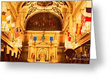 Inside St louis Cathedral Jackson Square French Quarter New Orleans Film Grain Digital Art Greeting Card by Shawn O'Brien
