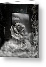 Intellectual   Gargoyle Greeting Card by Cheryl Young
