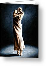 Intense Ballerina Greeting Card by Richard Young