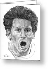 Intensity Lionel Messi Greeting Card by Tamir Barkan