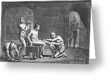 Interior Of Egyptian Bath Greeting Card by Granger