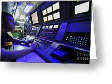 Internal Communications Electrician Greeting Card by Stocktrek Images