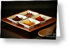 International Kitchen Spices Greeting Card by Inspired Nature Photography By Shelley Myke