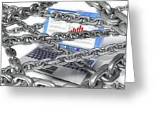 Internet Censorship, Conceptual Artwork Greeting Card by David Mack