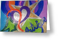 Intigue Greeting Card by Jemma Starseed