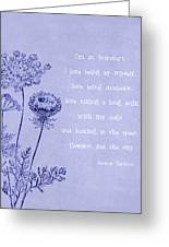 Introvert Greeting Card by Tia Helen