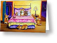 Invisable - Pembroke Welsh Corgi Greeting Card by Lyn Cook