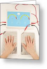 Iontophoresis For Excess Sweating Greeting Card by