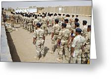 Iraqi Air Force College Cadets March Greeting Card by Stocktrek Images