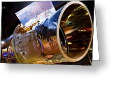 Iras Infrared Astronomy Satellite Greeting Card by Mark Williamson