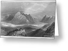 Ireland: Lough Inagh, C1840 Greeting Card by Granger