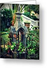 Iron Fence Detail Greeting Card by Perry Webster
