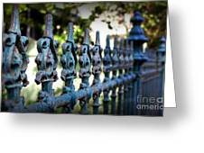 Iron Fence Greeting Card by Perry Webster