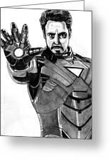Iron Man Greeting Card by Ralph Harlow