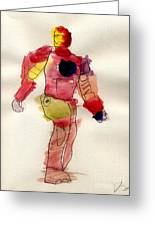 Iron Man Greeting Card by Vincent Gitto