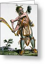 Iroquois Warrior Greeting Card by Granger