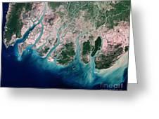 Irrawaddy River Delta Greeting Card by Nasa
