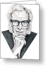 Isaac Asimov Greeting Card by Murphy Elliott