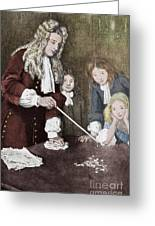 Isaac Newton, English Polymath Greeting Card by Science Source