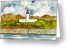 Isla De Cardona Lighthouse Greeting Card by Michael Vigliotti